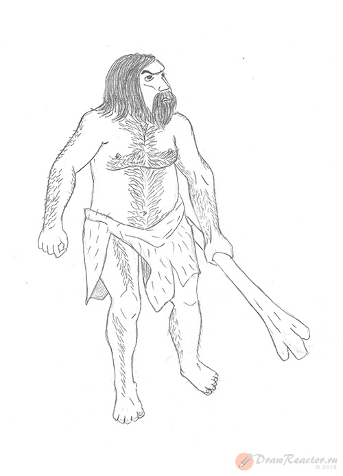 картинка первобытного человека рисующего покраснения коже
