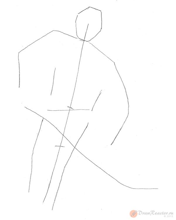 Рисуем хоккеиста. Шаг 2.