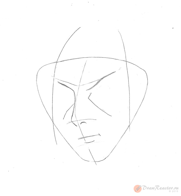 Рисуем Итачи. Шаг 4.