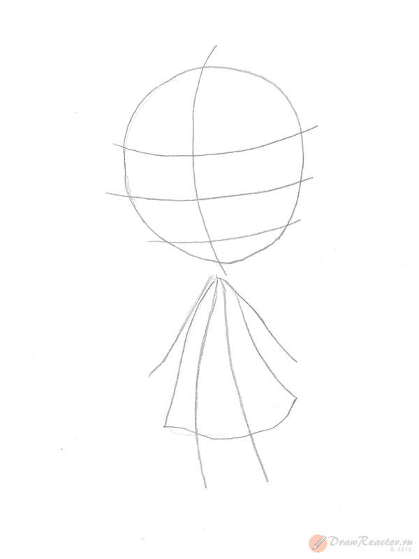 Как рисовать аниме детей. Шаг 2.