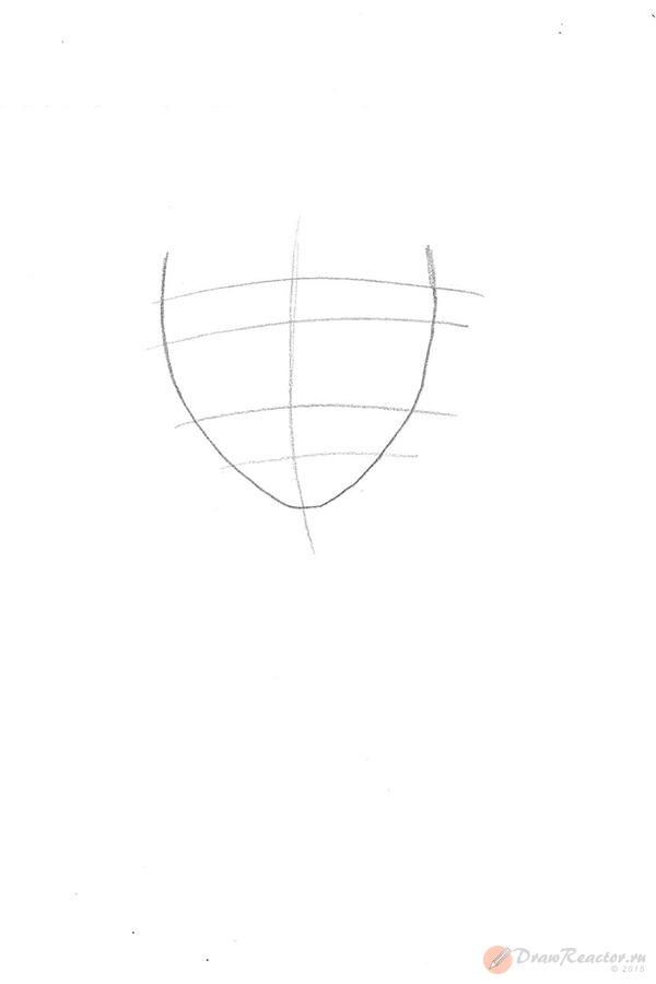 Как нарисовать девочку с длинными волосами. Шаг 1.