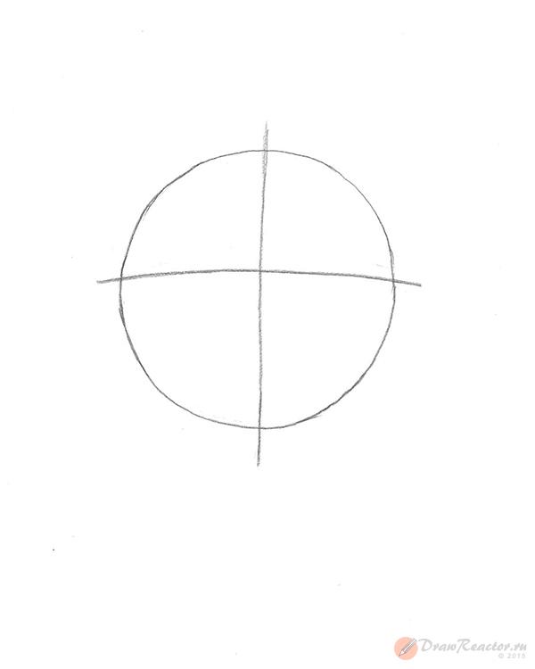 Как нарисовать Сакуру из Наруто. Шаг 1.