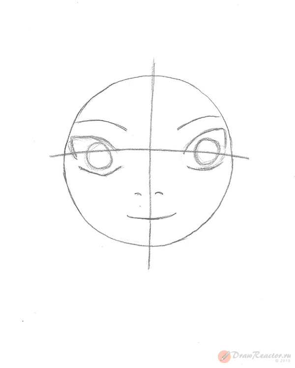 Как нарисовать Сакуру из Наруто. Шаг 2.
