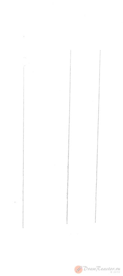 Рисунок Биг Бена. Шаг 1.