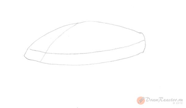 Как нарисовать машину. Шаг 1.