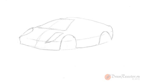 Как нарисовать машину. Шаг 2.