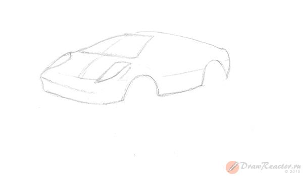 Как нарисовать машину. Шаг 3.