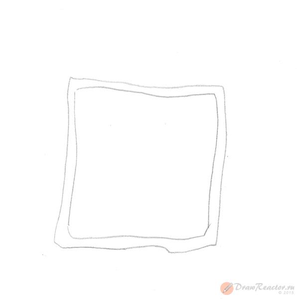Как нарисовать часы. Шаг 1.