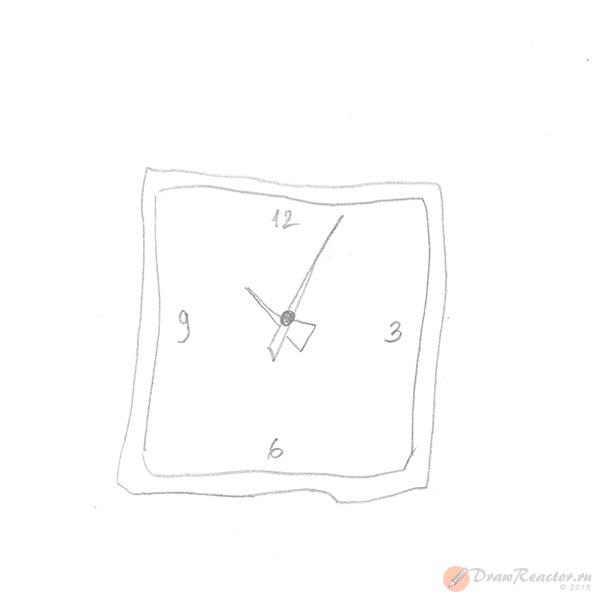 Как нарисовать часы. Шаг 2.