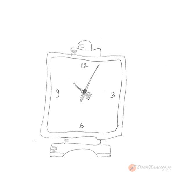 Как нарисовать часы. Шаг 3.