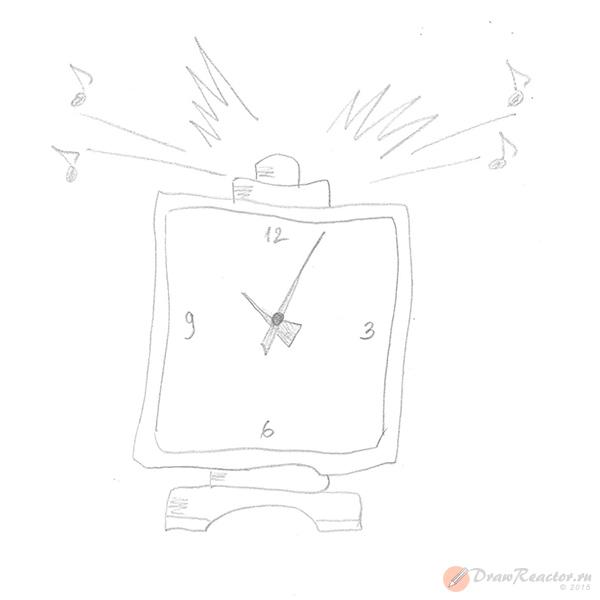 Как нарисовать часы. Шаг 4.