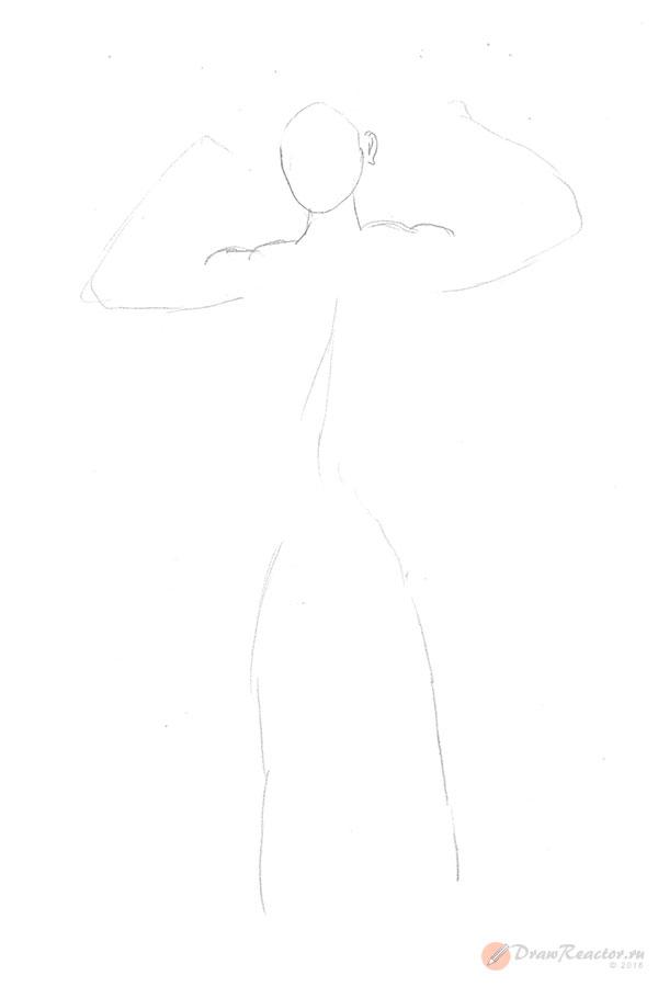 Рисунок Геракла. Шаг 1.