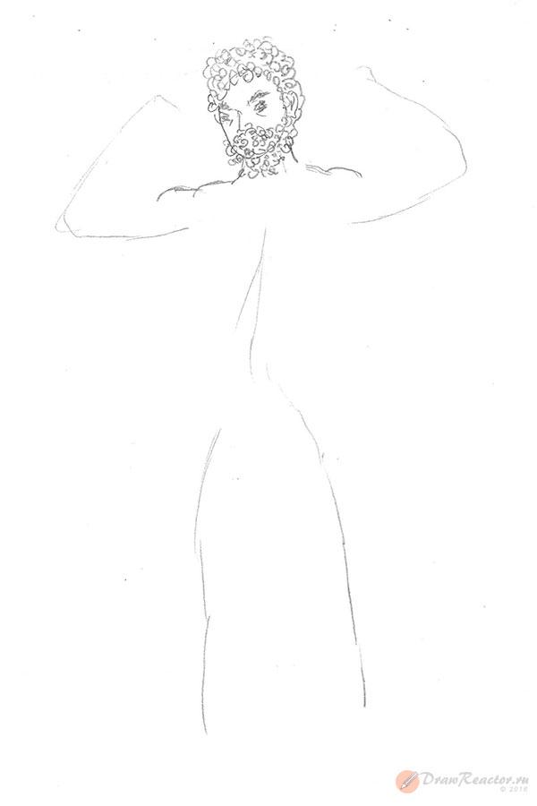 Рисунок Геракла. Шаг 2.