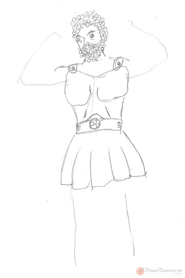 Рисунок Геракла. Шаг 3.