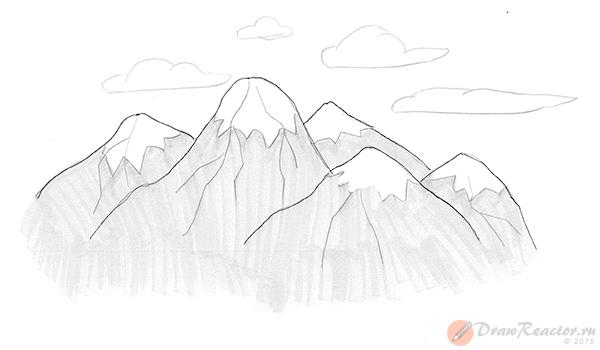 Рисуем горы. Шаг 5.