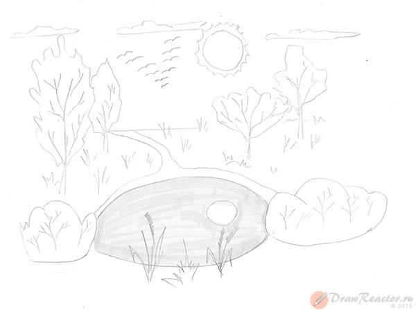 Как нарисовать природу. Шаг 5.