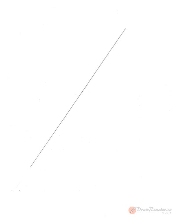 Рисунок ракеты. Шаг 1.