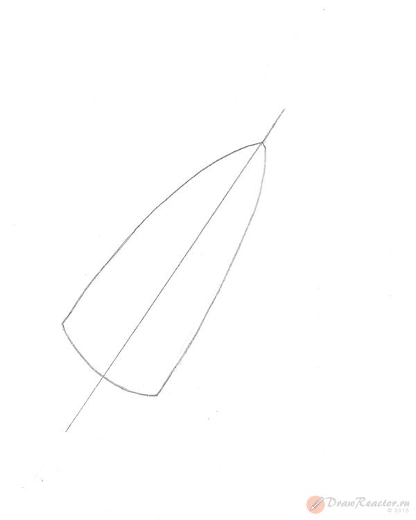 Рисунок ракеты. Шаг 2.