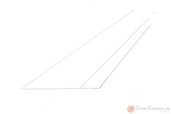 Как нарисовать лестницу. Шаг 1.