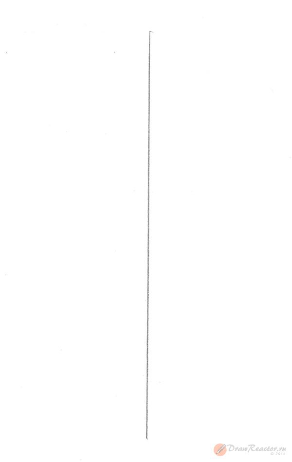Как нарисовать меч. Шаг 1.