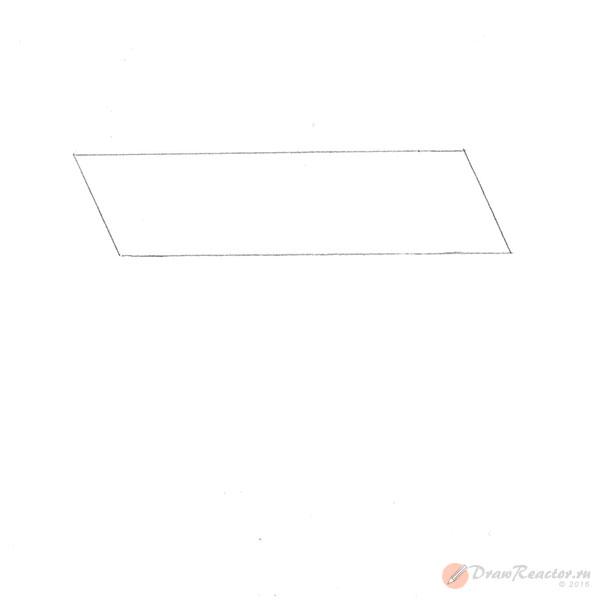 Как нарисовать стол. Шаг 1.