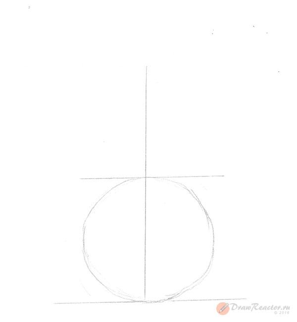 Как нарисовать вазу. Шаг 2.