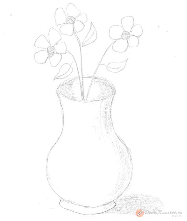 Как нарисовать вазу. Шаг 5.