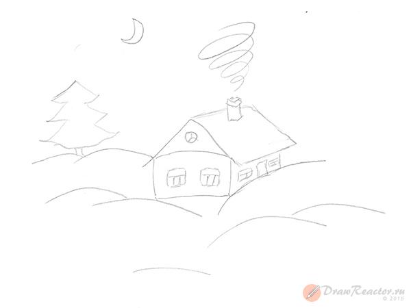 Картинки на зиму как нарисовать
