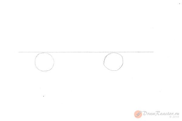 Как нарисовать машину ВАЗ. Шаг 1.
