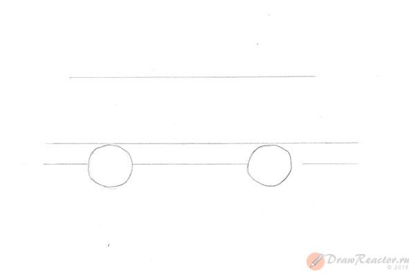 Как нарисовать машину ВАЗ. Шаг 2.