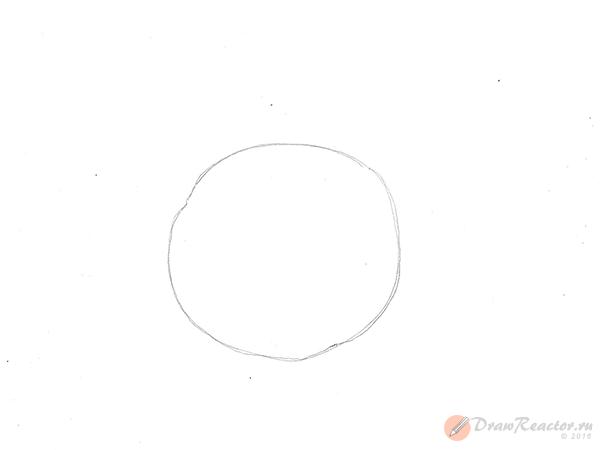 Как рисовать капусту. Шаг 1.