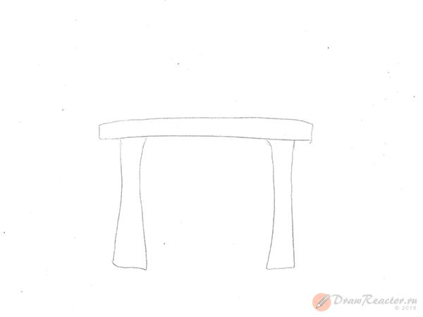 Как нарисовать камин. Шаг 1.