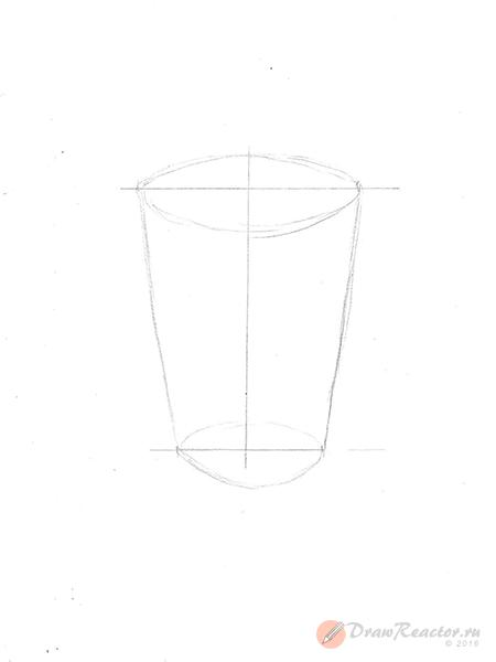 Рисунок мороженого. Шаг 2.