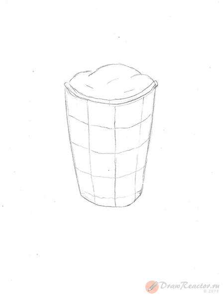 Рисунок мороженого. Шаг 4.