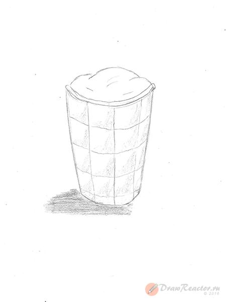 Рисунок мороженого. Шаг 5.