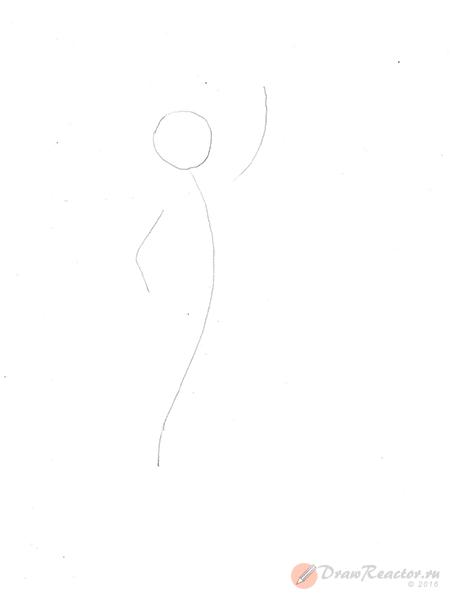 Как нарисовать русалку. Шаг 1.