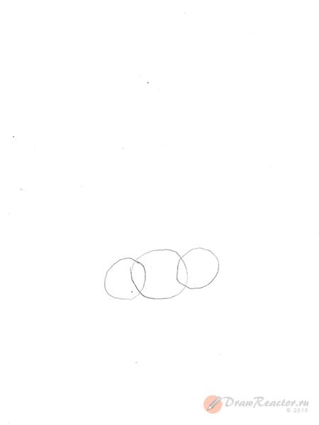 Как рисовать нос. Шаг 1.