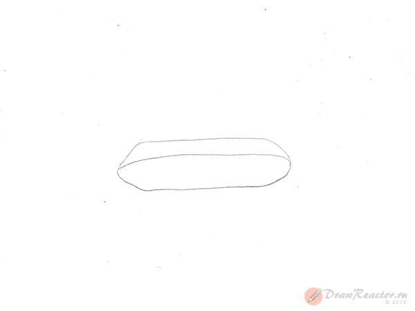 Как нарисовать танк. Шаг 1.