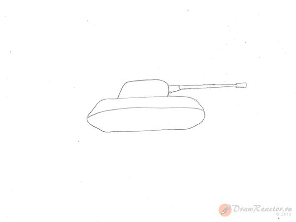 Как нарисовать танк. Шаг 2.