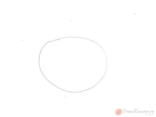 Как нарисовать помидор. Шаг 1.