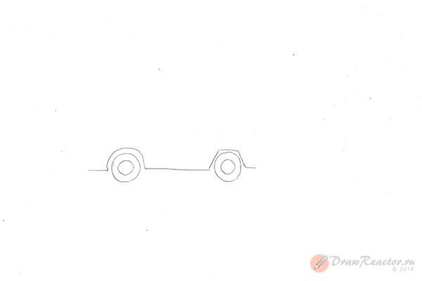 Как нарисовать грузовик. Шаг 1.