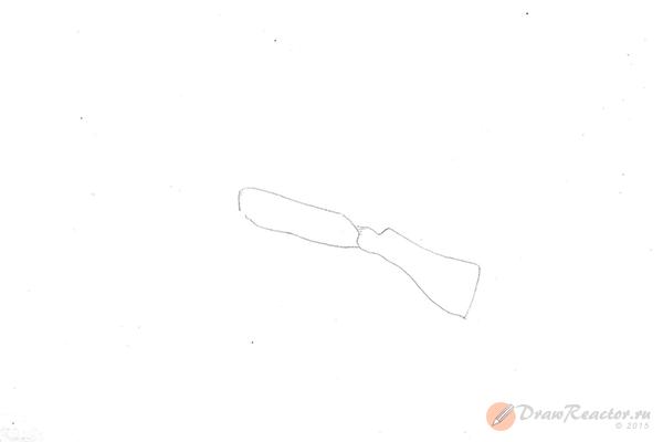 Как нарисовать автомат. Шаг 2.