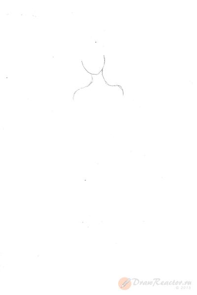 Как нарисовать Барби. Шаг 1.
