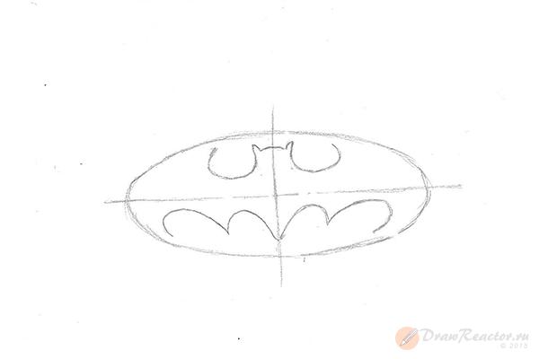 Как нарисовать значок бэтмена