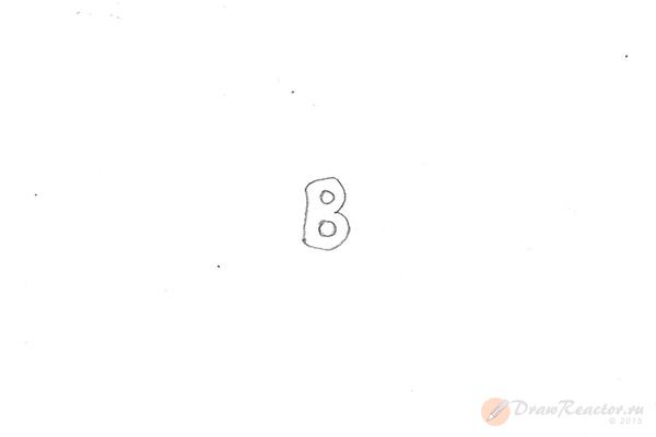 Как нарисовать значок Бентли. Шаг 1.
