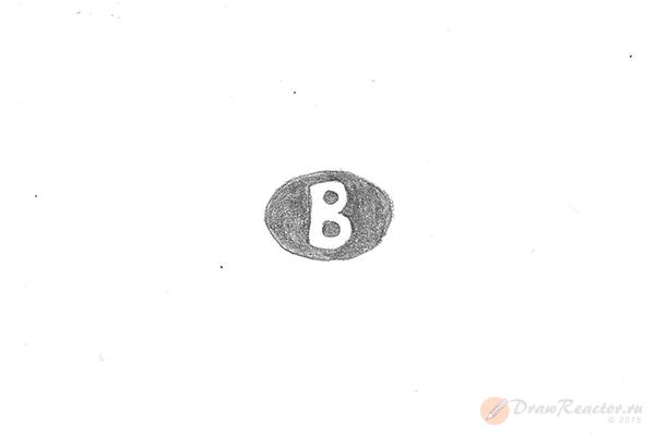 Как нарисовать значок Бентли. Шаг 2.