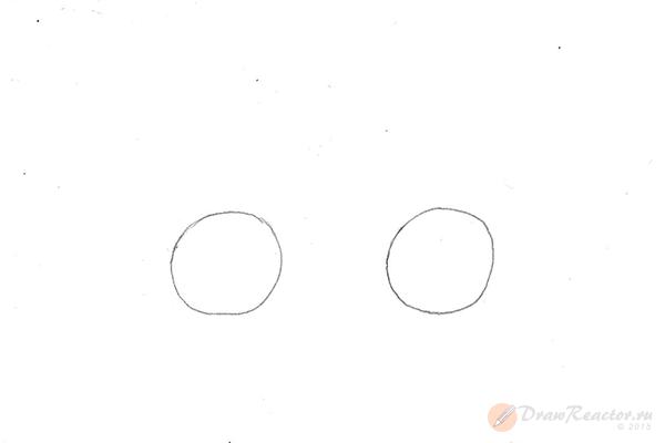 Как нарисовать велосипед. Шаг 1.