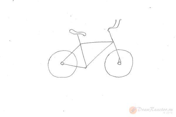 Как нарисовать велосипед. Шаг 3.
