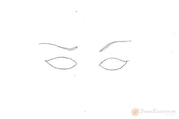 Как рисовать брови. Шаг 2.