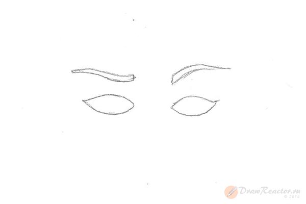 Как рисовать брови. Шаг 3.